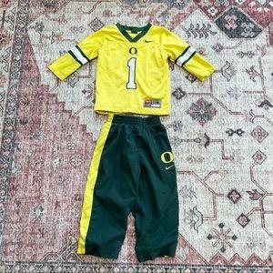 Nike Oregon Ducks baby track suit set